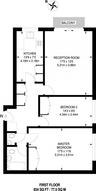 Floorplans For Lancaster Close, Kingston