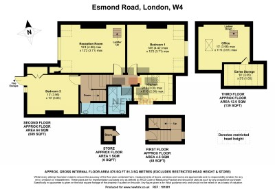 Floorplans For Esmond Road, London