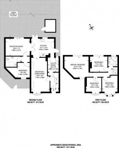 Floorplans For Woodlands Avenue, Worcester Park
