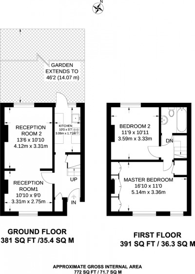 Floorplans For Avenue Road, Kingston Upon Thames