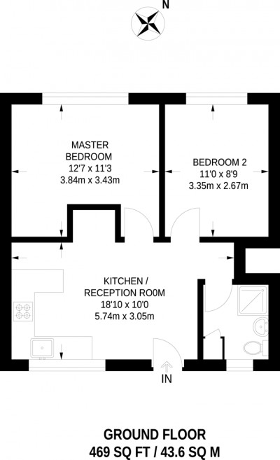 Floorplans For Queens Road, Kingston Upon Thames