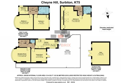Floorplans For Cheyne Hill, Surbiton