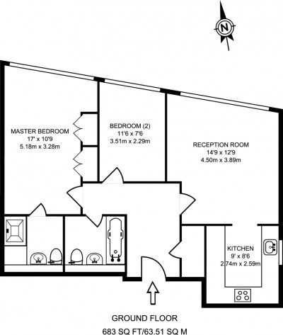 Floorplans For The Bittoms, Kingston Upon Thames
