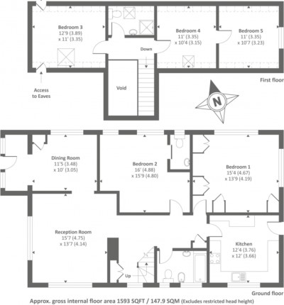 Floorplans For Vicarage Road, Sunbury-on-Thames